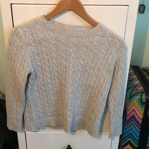 Petite medium Croft & Barrow cable knit sweater